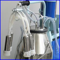 110V/220V Electric Milking Machine Milker For Cows 25L Bucket Low Noise Portable