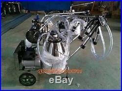 110v/220v, double buckets Piston vacuum milking machine for cows, cattle, sheep