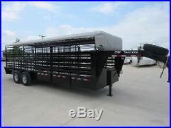 2017 6ft6in wide x 24ft Long CM Cattle Livestock Trailer