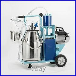 25L 1440RPM Electric Milking Machine For Farm Cows WithBucket Adjustable Pioton