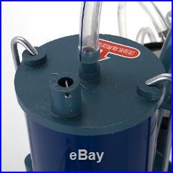 25L Electric Milking Machine For Goats Cows WithBucket 550W 2 Plug 1440RPM 64L/min