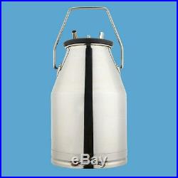 25L Electric Milking Machine For farm Cows Bucket Stainless Steel 64/min Livesto