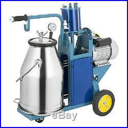 25L Electric Milking Machine Ideal Equipment For Farm Cows WithBucket Vacuum Pump