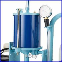 25L Electric Milking Milker Machine For Goats Cows Stainless Steel 1440RPM