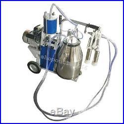 25L FDA Electric Milking Unit Milker For farm Cows Bucket Cattle DairyUSA