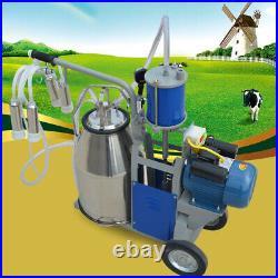 25L Milker Electric Piston Vacuum Pump Milking Machine For Farm Cows Bucket