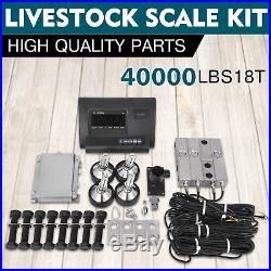 40000 Lb Load Cell Scale Kit Platform Livestock Cattle Chute Floor Truck New