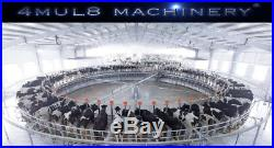 4mul8 Machinery Auto Rotary Milking Parlor 60 Cows Puller + Flow Meter