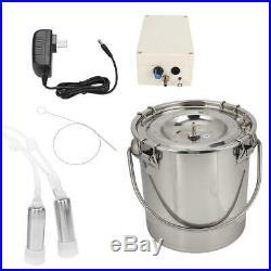 5L Portable Electric Milking Machine Vacuum Pump for Farm Cow Cattle Milking