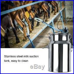 7L Cows Milker Electric Milking Machine Home Sheep Pulse Vacuum Pump Bucket