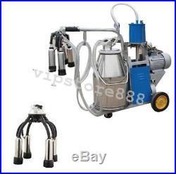 Auto Electric Milking Machine For Farm Cow Cattle Bucket Vacuum Piston Pump 2019