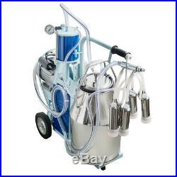 CE Electric Piston Milking Machine For Cows Farm 25L Bucket Easy Move Durable