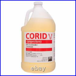 CORID 9.6% SOLUTION Amprolium Water-soluble Coccidiosis Prevention Cattle Gallon