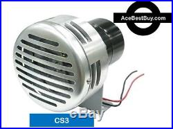 CS3+ Pierce HD Cattle Siren withINSTALL KIT, chrome 12 volt Industrial duty motor