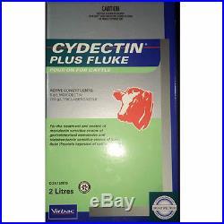 CYDECTIN PLUS FLUKE POUR-ON FOR CATTLE 2-Litre (Moxidectin & Triclabendazole)
