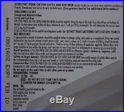 CYDECTIN POUR-ON Beef Dairy Cattle Dewormer Zero Slaughter Withdrawal 2.5 Liter