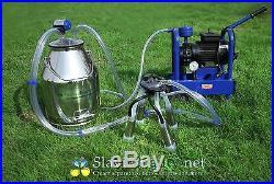 Cows Milking 5.3 US Gal Stainless Electric Milking Machine Bucket Milker+ Extras