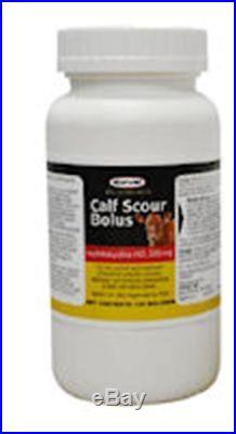 DURVET Calf Scour Bolus 500mg Beef Dairy Cattle Pneumonia Diarrhea 100 Count
