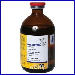 Dectomax Injectable 1% Dewormer for Cattle and Swine Case of 6 500mL bottles
