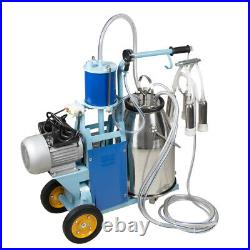 Effective Milker Electric Piston Vacuum Pump Milking Machine Stanless Farm Cows