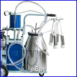 Electric Milking Machine For Farm Cows With304 Stainless Steel Bucket cow Milker