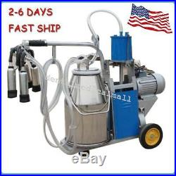 Electric Milking Machine For Farm Cows WithBucket Piston 0.04-0.05Mpa HOT