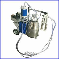 Electric Milking Machine For cows Bucket Stainless Steel Automatic Vacuum Pump