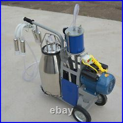 Electric Milking Machine with Accessories for Farm Cow Cattle Bucket Vacuum Pump