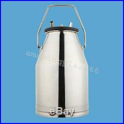 Electric Vacuum Pump Milking Machine For Farm Cows+ 25L Bucket+Portable Wheels