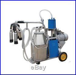 Large Electric Milking Machine Milker For Farm Cows Cattle Milk Piston Pump CA