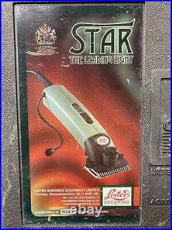 Lister Star Large Animal Clipper with Fine Blade for Horses, Cattle, Sheep