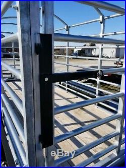New Heavy Galvanized Deluxe Cattle Racks Hog Sheep Goat Hauling Stockyard 16 FT