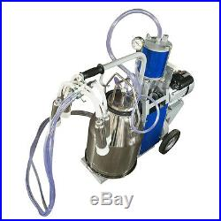 New Portable Electric Milking Machine for Cows Bucket Stainless Steel Bucket USA
