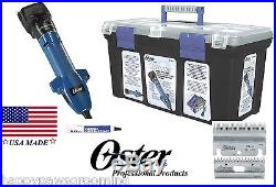 OSTER CLIPMASTER VARIABLE SPEED CLIPPING MACHINE SET-Blade, Oil, CASE-Sheep, Cattle