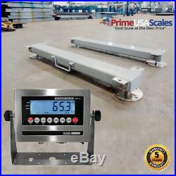 Optima OP-919HD Weigh Bars 40 5000 lb Livestock Cattle Chute Scale with Indicator