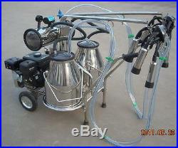 Portable Gasoline Vacuum Pump Milking Machine For Cows -SHIPPED BY SEA TO PORT
