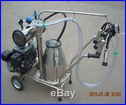 Portable Gasoline Vacuum Pump Milking Machine for Cows Single SHIPPED BY SEA