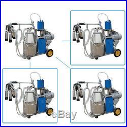 Portable Milker Electric Milking Machine Milker cows Stainless Steel Bucket