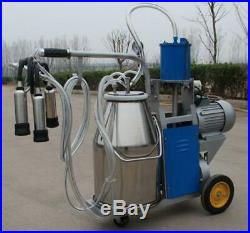 Portable Safe US Cow Milker Electric Piston Milking Machine For Cows Farm Bucket