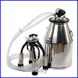 Portable Stainless Milking Machine & Dairy Cow Milker Bucket Tank Barrel Cattle