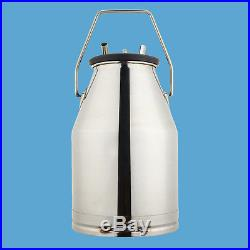 Stainless Milking Machine Portable Dairy Cow Milker Bucket Tank Barrel Cattle