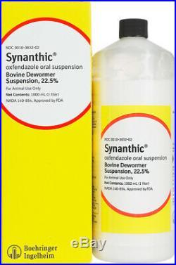 Synanthic Drench Wormer Cattle Parasite 1000ml Dewormer Suspension 22.5% GUN