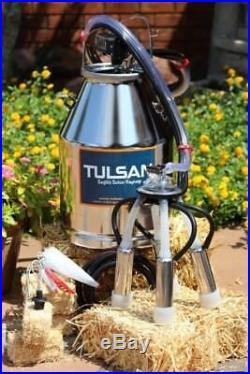 Tulsan Complete Electric Fixed Milking Station for 2 cows. Ideal for small farms