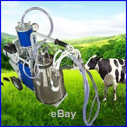 USA Electric Milking Machine Milker Cows Bucket 25L Stainless Steel Bucket Farm