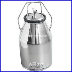 USElectric Milking Machine Milker Piston Pump Cattle Dairy 25L Bucket 110V/220V