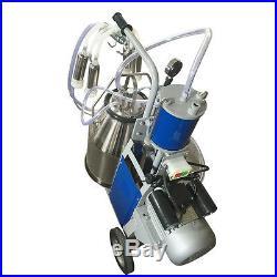 US 64/min Dairy Electric Milking Machine Cows Milker Piston Pump Dairy Equipment