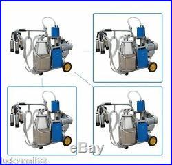 US Portable Milker Electric Piston Vacuum Pump Milking Machine Farm Cows Milk