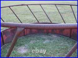 Vintage Round Bale Hay Feeder Metal Usually for Cows