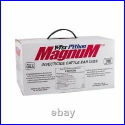 Y-Tex Corporation 1857003 Python Magnum 100 Count Per Box Insecticide Cattle Ear
